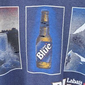 90s Mens Large Distressed Labatt Blue Sweatshirt